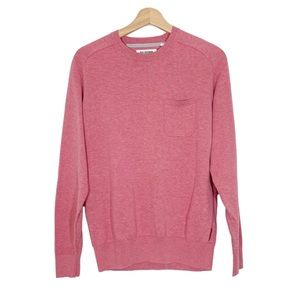 BEN SHERMAN Pink Patch Elbow Pullover Sweater M